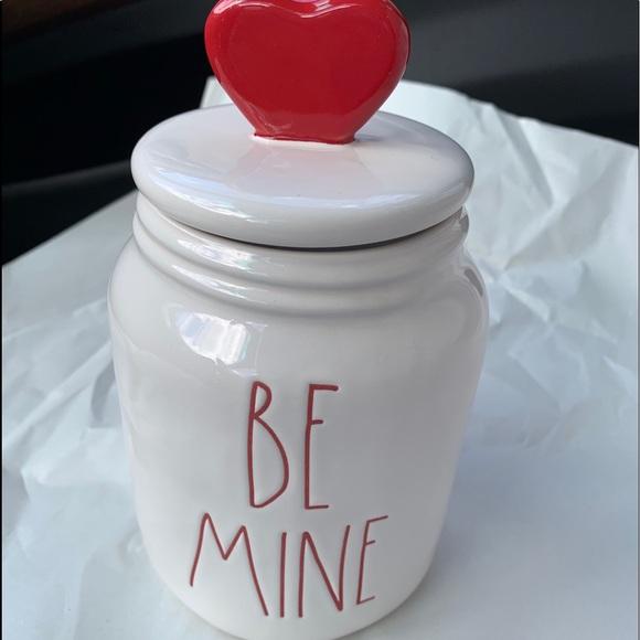 Rae Dunn be mine canister